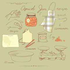 векторный набор на кухонную тему