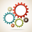 Abstract Background Gears Retro Colour