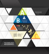 Abstract infographic Design Minimal Triangle shape style technol