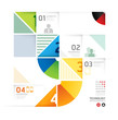 Abstract infographic Design Minimal circle shape style technolog