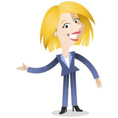 Businesswoman, explaining, gesturing, pointing