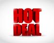 hot deal 3d text illustration design