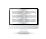 ebook reader. computer illustration design