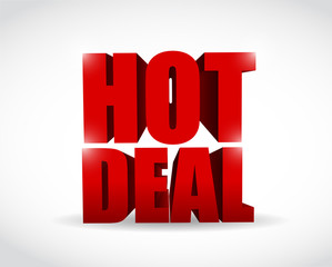 hot deal 3d text illustration design