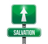 salvation road sign illustration design poster