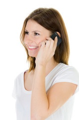frau telefoniert mobil