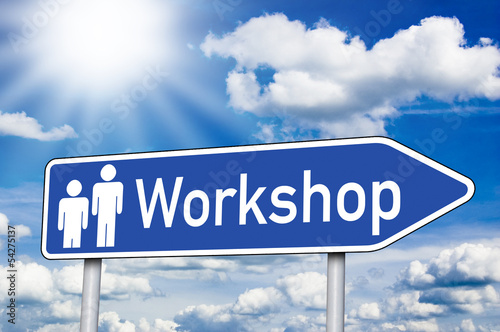 Wegweiser mit Workshop