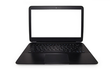 Ultra thin laptop computer isolated on white background