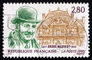 Postage stamp France 1995 Andre Maginot, Politician