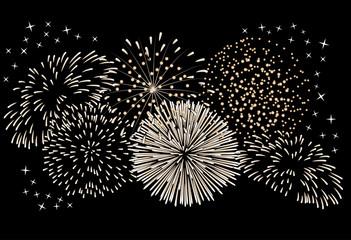 Fireworks on a black background.