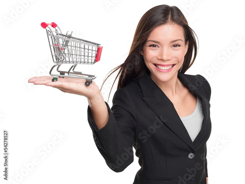 Shopping cart - business woman shopper