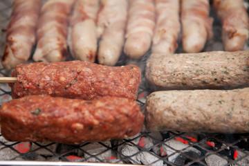 bbq barbecue kebab sausage disposable