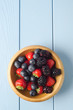 Summer Fruit Bowl From Above