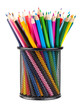 Various color pencils set  in black container