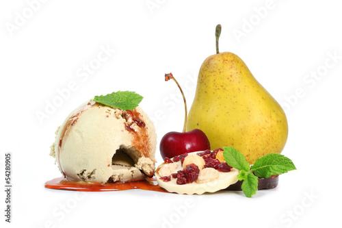 Fototapeten,eis,ball,fruchtcocktail,schlenge