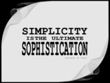 Simplicity - motivational phrase poster