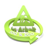 3d graphic of a sustainable eco symbol  a 100 percent eco poster