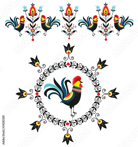 dekoracja z kogutami - 54283381