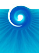 wavy water vertical banner, background design