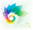 Abstract colorful floral swirl background.