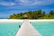 Arrival at resort island