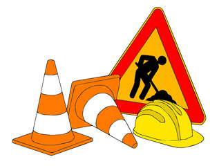 segnali stradali per la costruzione