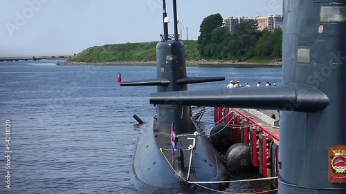 submarine at the pier