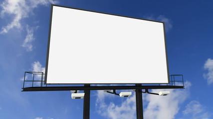 billboard under the clouds