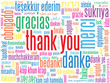 THANK YOU Card (gratitude appreciation thanks message tag cloud)