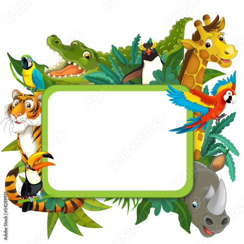Banner - frame - border - jungle safari theme