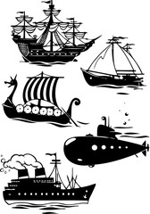 different types of ships