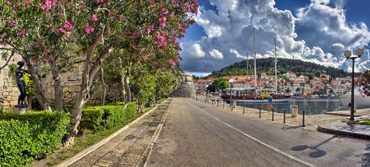 Town Korcula at Croatia - harbor
