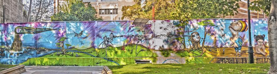 Wall graffiti in Santiago