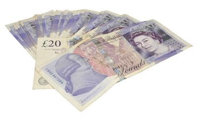 English Twenty Pound Notes