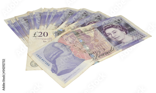 English Twenty Pound Notes