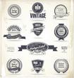 Set of vintage retro premium quality labels