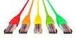 Ethernet Cables Unplugged Colors Pointing Forward Top