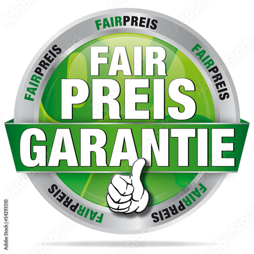 Fairpreis-Garanatie - Button grün