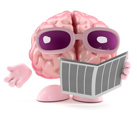 Brain looks in the newspaper for a job