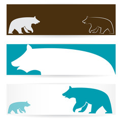 Vector image of an bear banners