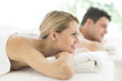 Woman Looking Away While Relaxing At Spa