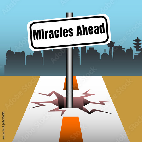 Miracles ahead plate