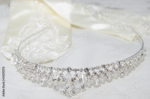 Tiara on White sheet