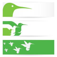 Vector image of an hummingbird banners