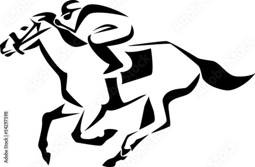 stylized racing horse - 54297598