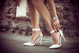 elegant high heel shoes