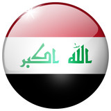 Iraq Round Glass isolated button