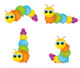 funny colorful caterpillar