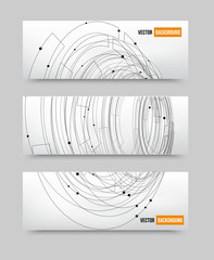 Vector point and line black vector card. circles