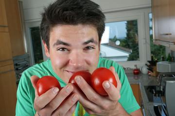 Die Tomaten riechen gut